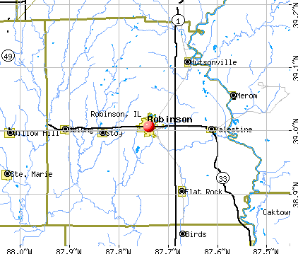 Robinson, IL map