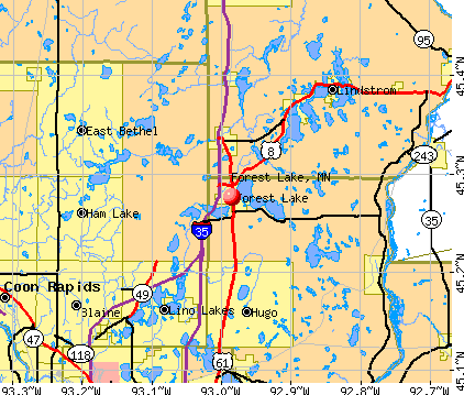 Forest Lake, MN map