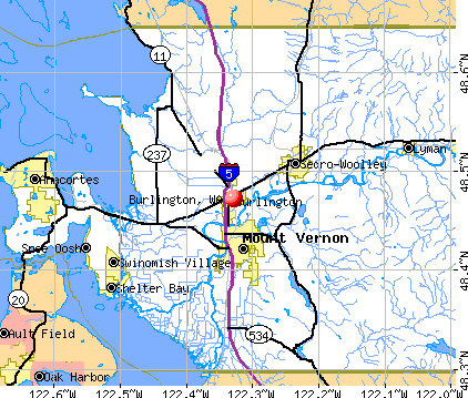 Burlington, WA map