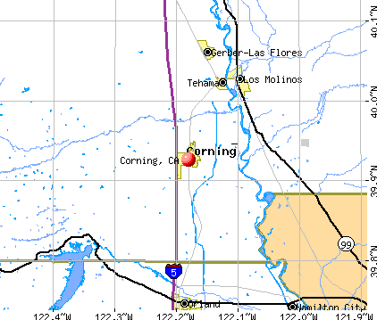 Corning, CA map