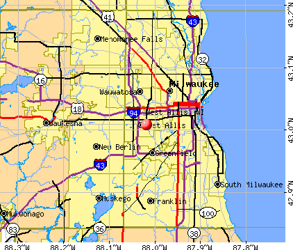 West Allis, WI map