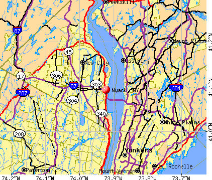 Nyack, NY map