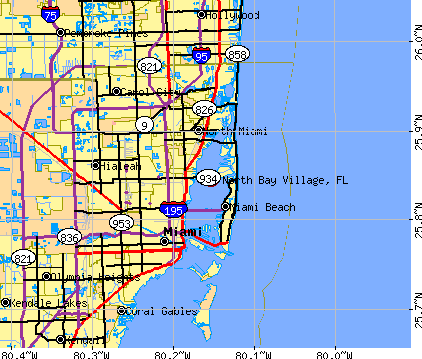 North Bay Village, FL map