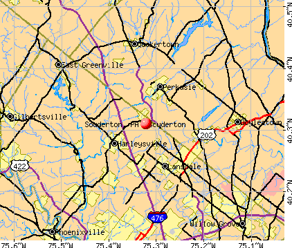 Souderton, PA map