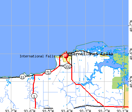 International Falls, MN map