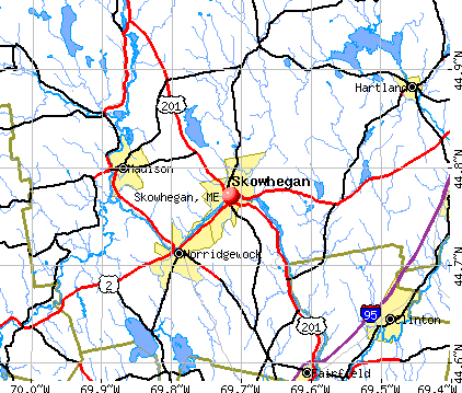Skowhegan, ME map