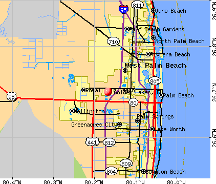 Golden Lakes, FL map
