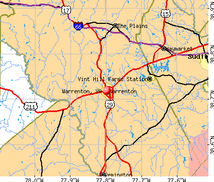 Warrenton, VA map