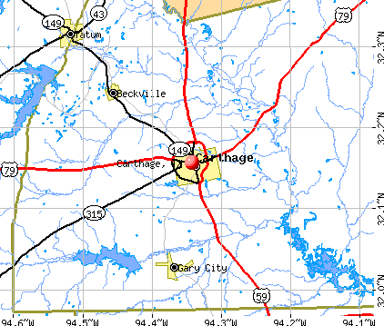 Carthage, TX map