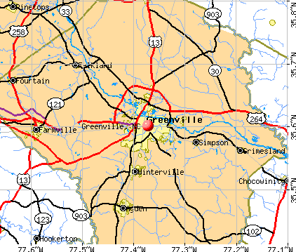 Greenville, NC map
