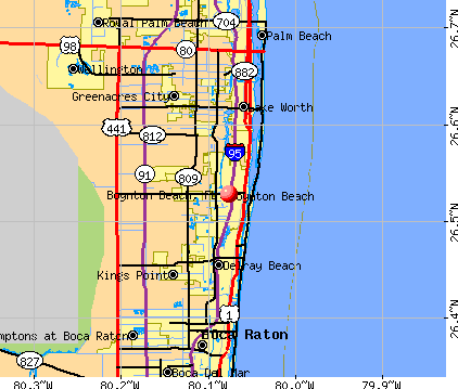 Boynton Beach, FL map