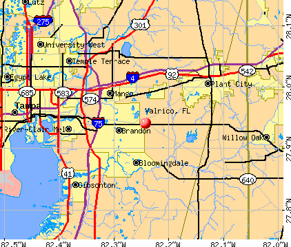 Valrico, FL map
