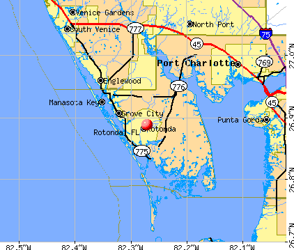 Rotonda, FL map