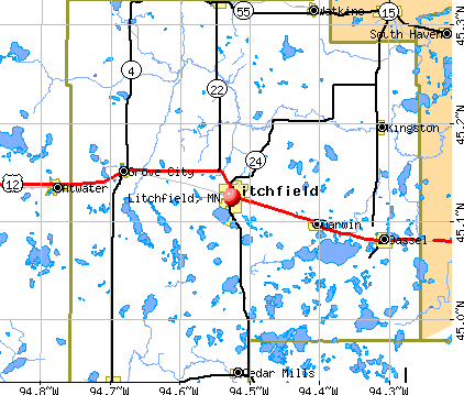 Litchfield, MN map