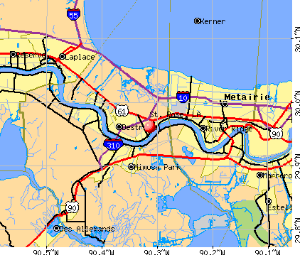 St. Rose, LA map