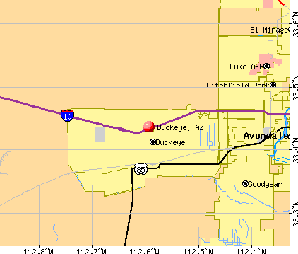 Buckeye, AZ map