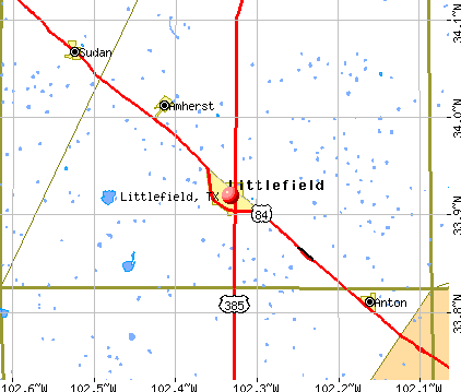 Littlefield, TX map