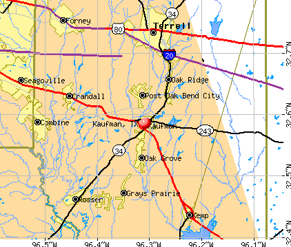 Kaufman, TX map