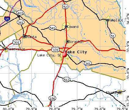 Lake City, SC map