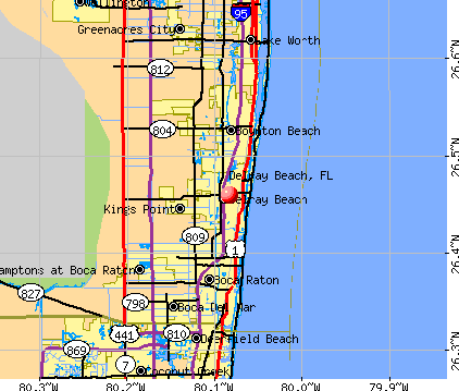 Delray Beach, FL map