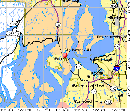 Gig Harbor, WA map