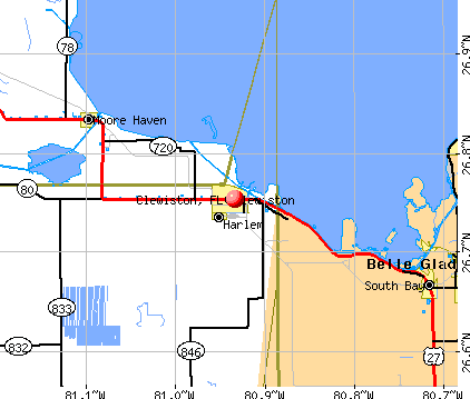 Clewiston, FL map