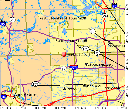 Northville, MI map