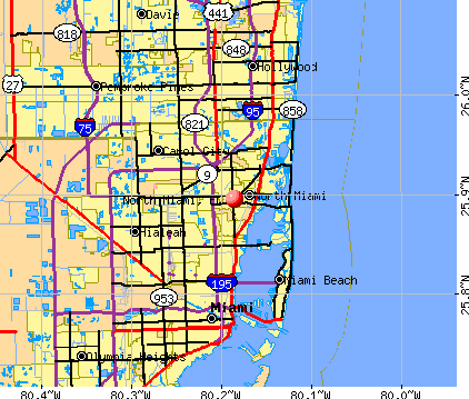North Miami, FL map