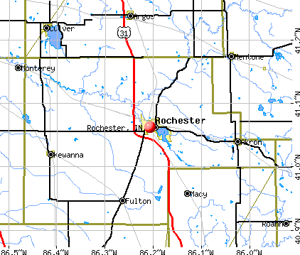 Rochester, IN map