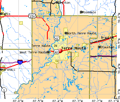 Terre Haute, IN map