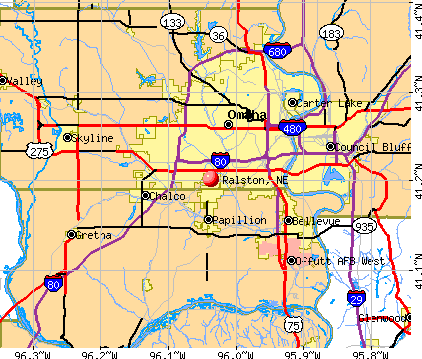 Ralston, NE map