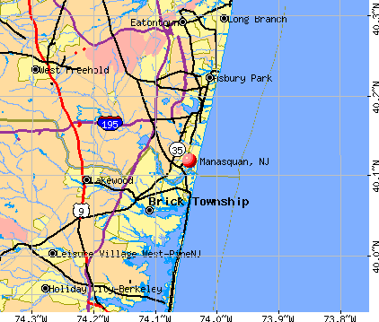 Manasquan, NJ map