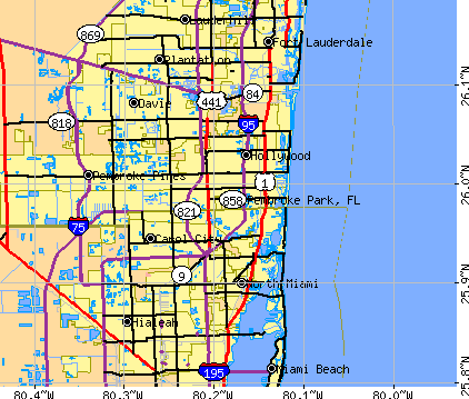Pembroke Park, FL map