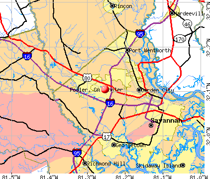 Pooler, GA map