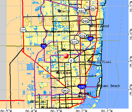 Opa-locka North, FL map