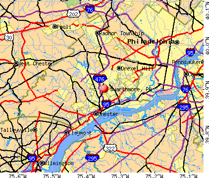 Swarthmore, PA map