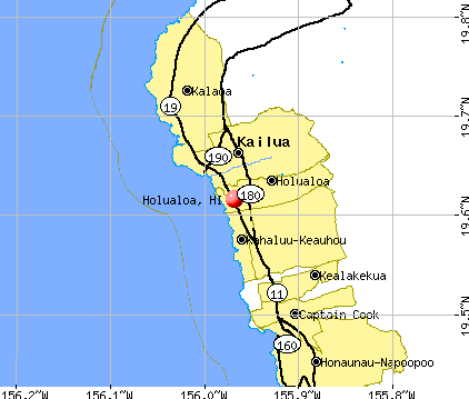 Holualoa, HI map
