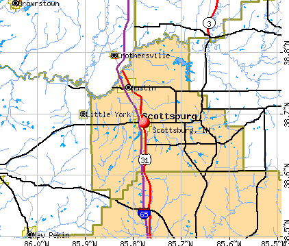 Scottsburg, IN map