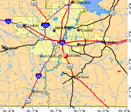 Richland, MS map