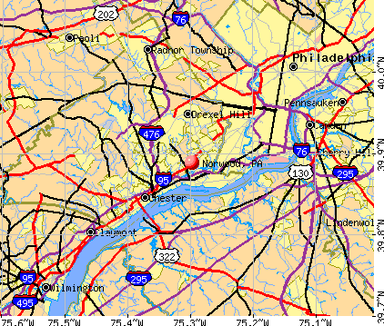 Norwood, PA map