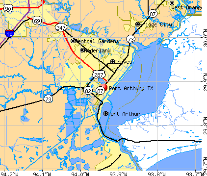 Port Arthur, TX map
