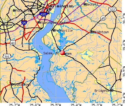 Salem, NJ map