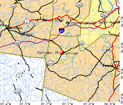 Fairview, TN map