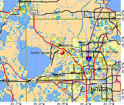 South Apopka, FL map