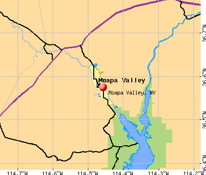 Moapa Valley, NV map