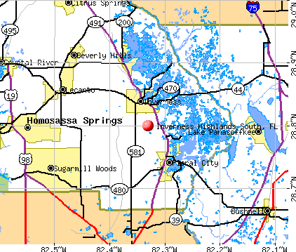 Inverness Highlands South, FL map