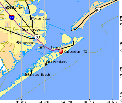 Galveston, TX map