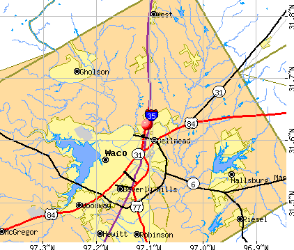 Lacy-Lakeview, TX map