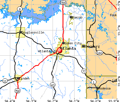 Atlanta, TX map