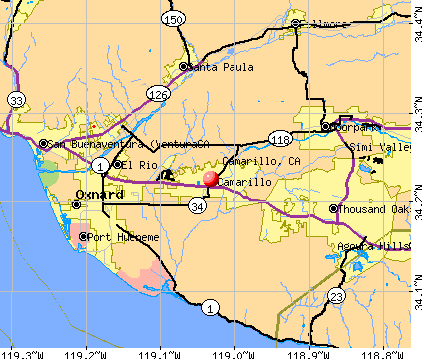 Camarillo, CA map